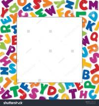 Alphabet Frame Square Multicolor Letter Border Stock ...
