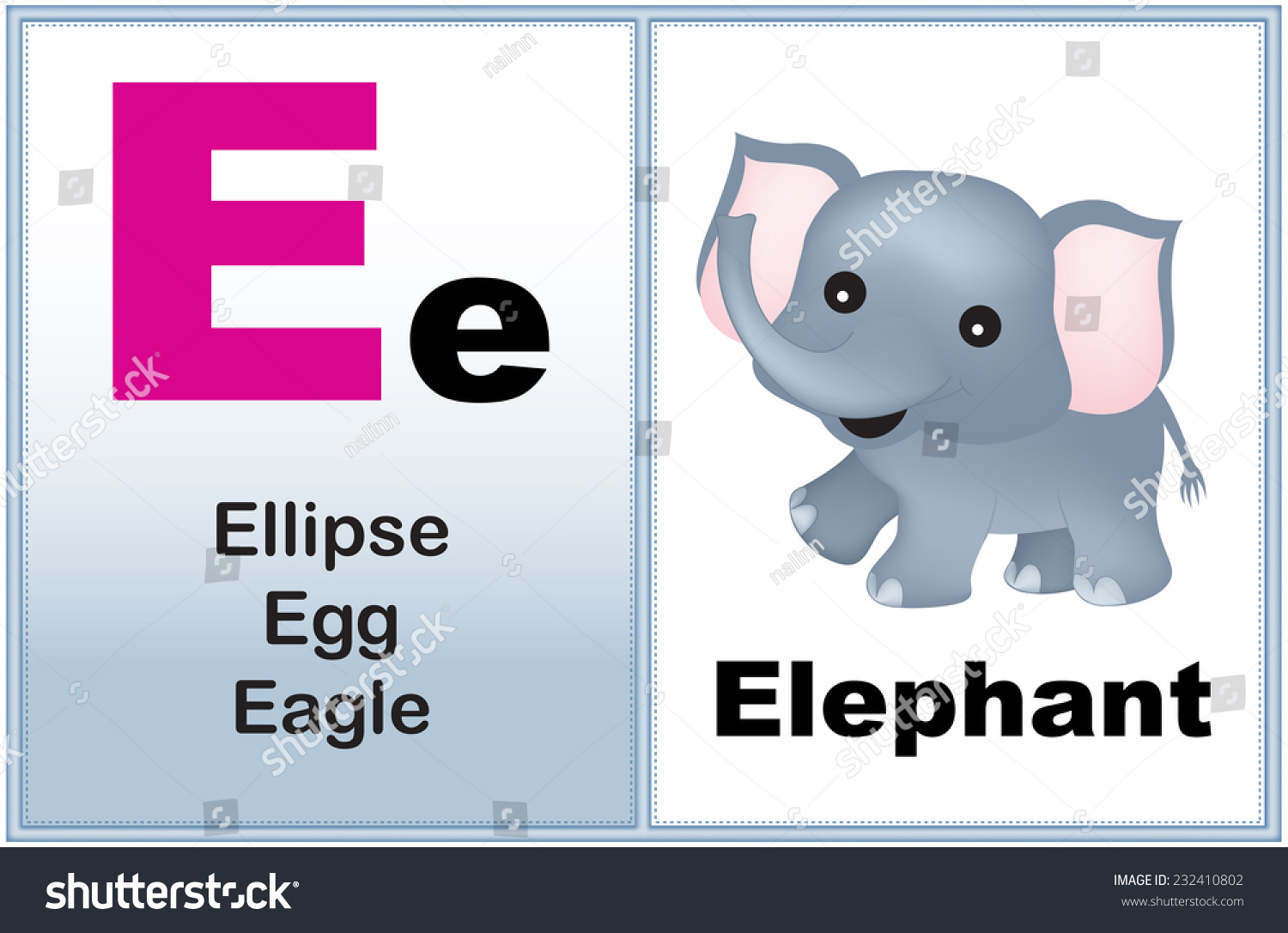 Alphabet Letter E Clipart Few Similar Stock Vector