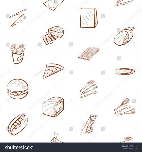 small resolution of american food cutlery japanese food and table setting set background for printing
