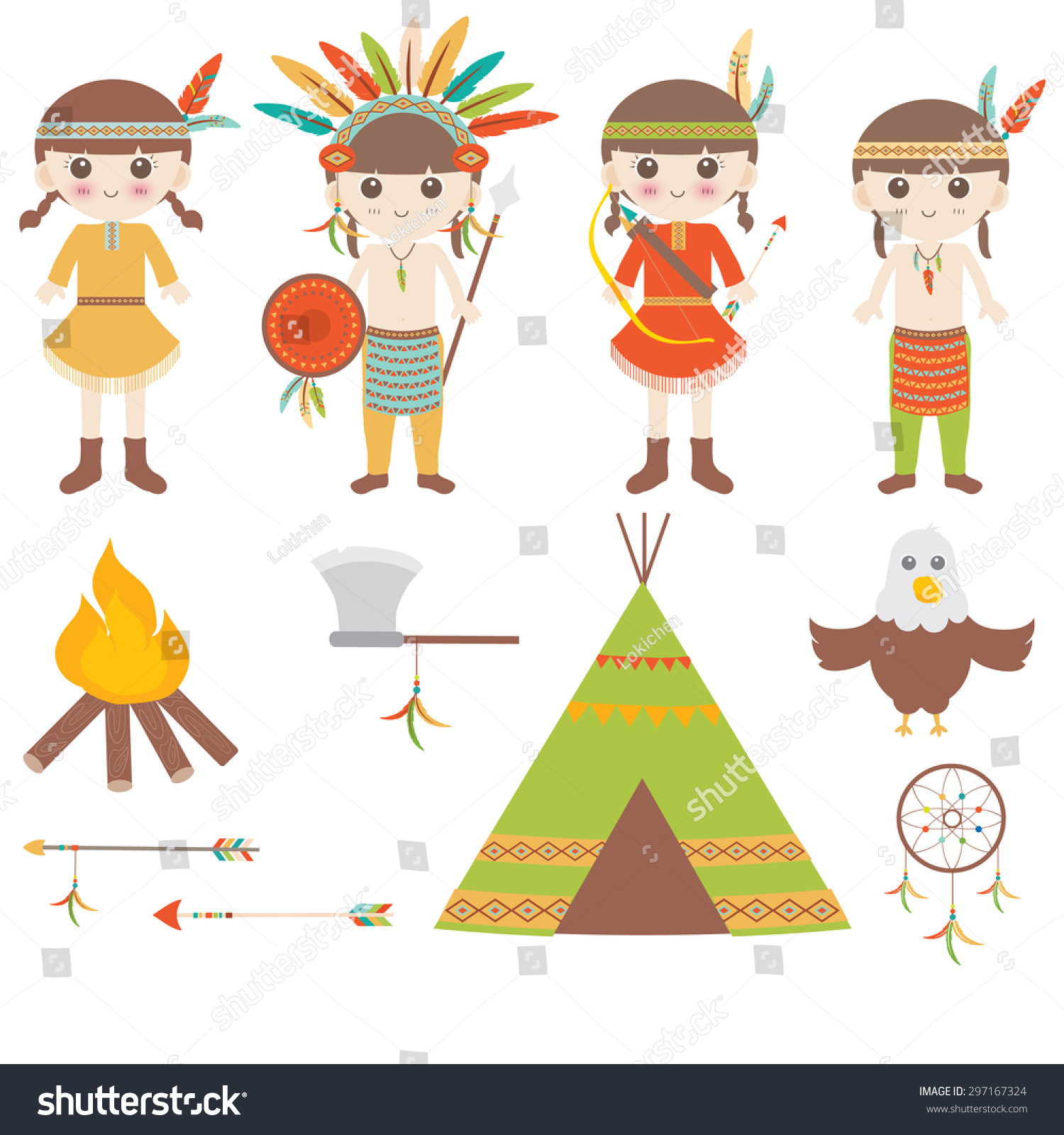 hight resolution of american indian clipart icons design