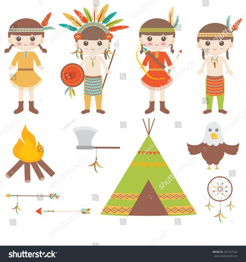 small resolution of american indian clipart icons design