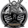 American Vintage Motorcycle Label Thor S Hammer Stock