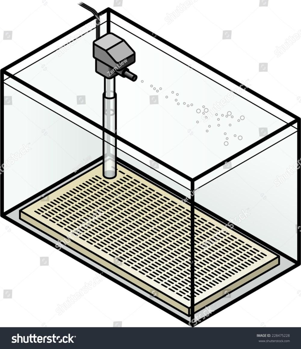 medium resolution of an aquarium filter under gravel filter with a power head