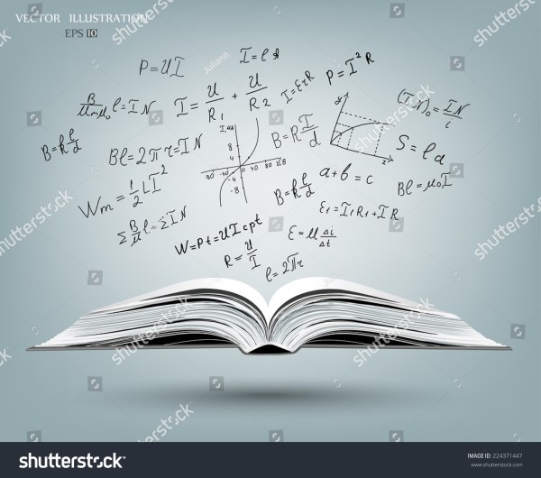 Open Book Gray Cover Science Icons Stock Vector 224371447