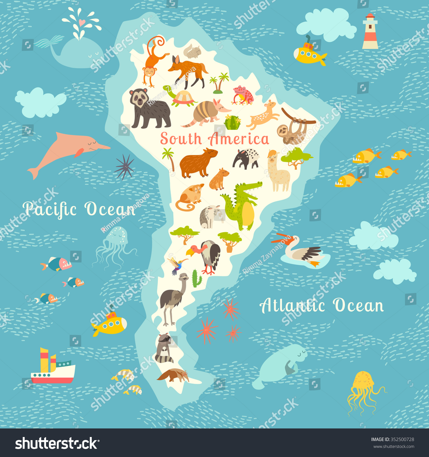 Animals World Map South America South American Animals