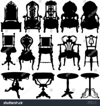 Antique Chair Table Vector Stock Vector 8521003 - Shutterstock