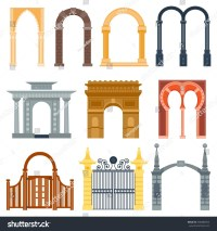 Arch Design Architecture Construction Frame Classic Stock