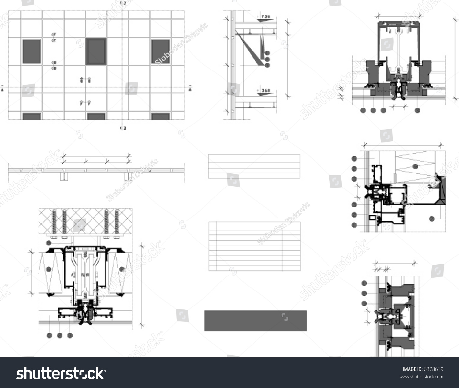 hight resolution of architectural vector plan white blank table