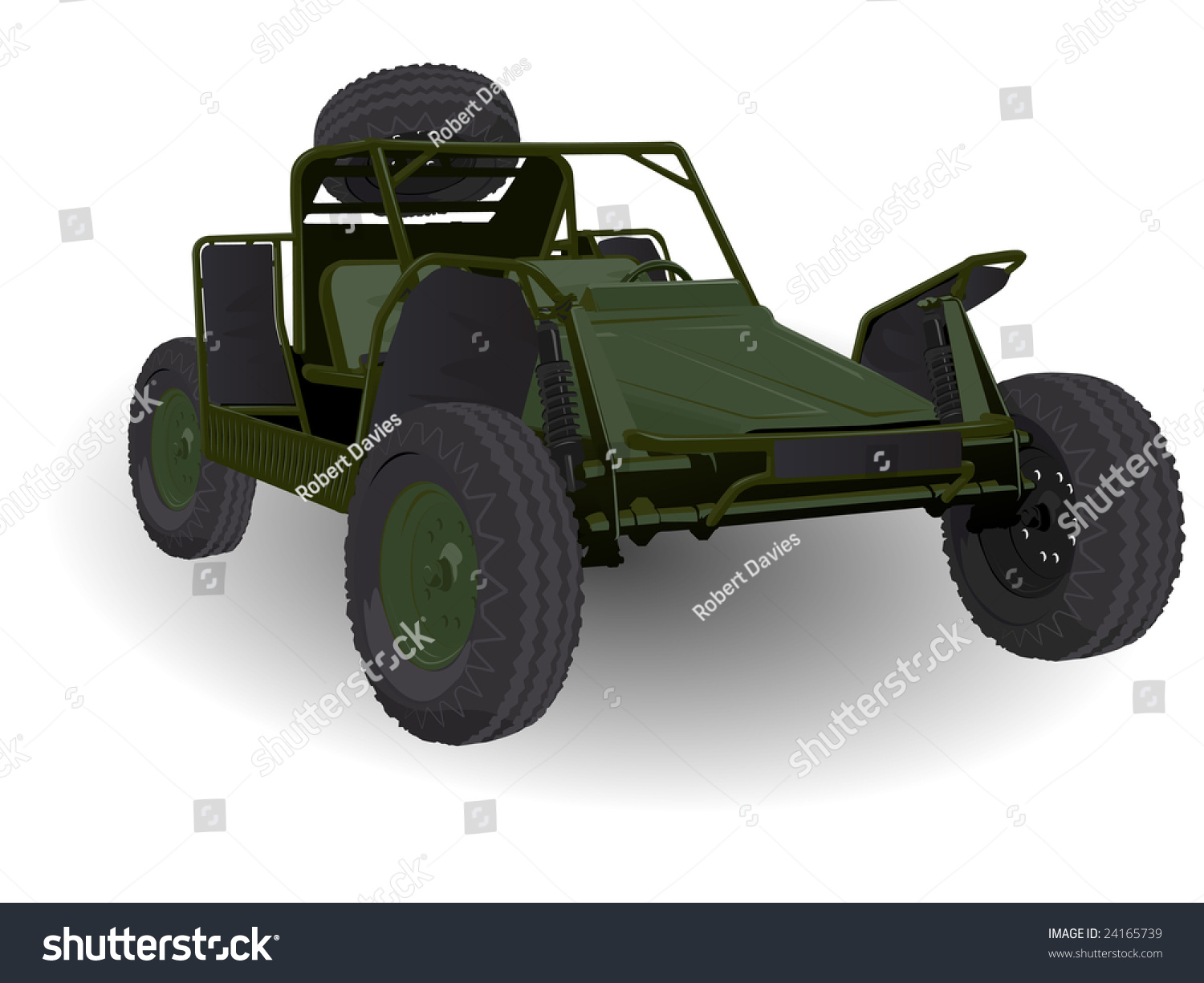 Army Dune Buggy Go-Cart Vehicle On White Stock Vector Illustration 24165739 : Shutterstock