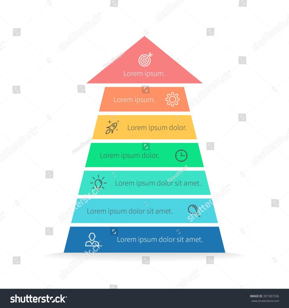 medium resolution of arrow pyramid chart diagram scheme graph with 7 steps