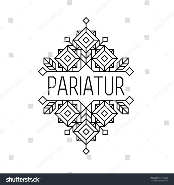 Geometric Art Deco Borders Vector