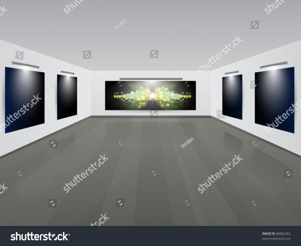 Art Showroom With Background.vector Illustration