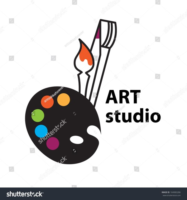 Artstudio Sign Vector Brush Palette Icon Stock