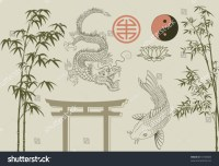 Asian Design Elements Stock Vector 53748685