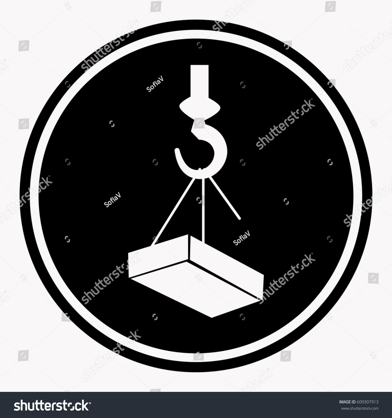 hight resolution of crane hook diagram labels wiring diagram used attention construction caution sign heavy block stock vector crane