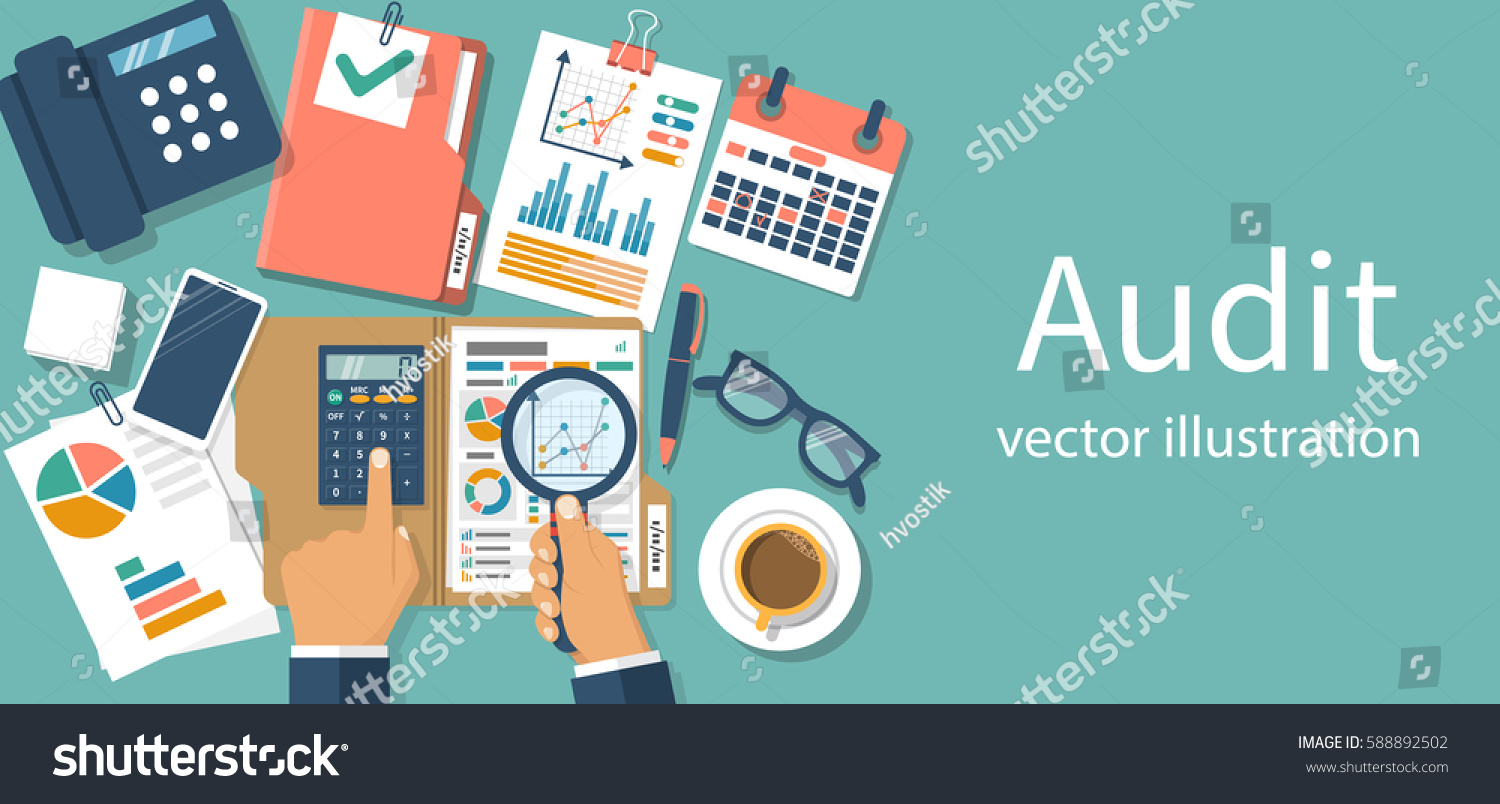 Auditing Concepts Auditor Table During Examination Stock