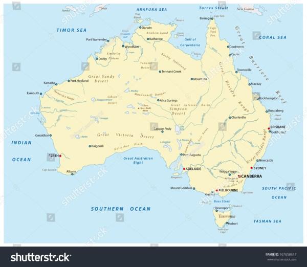 Australia Map Desert