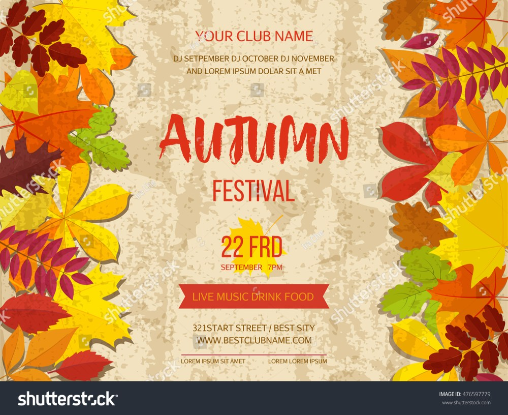 medium resolution of free fall festival flyer templates polarview net thanksgiving autumn background border