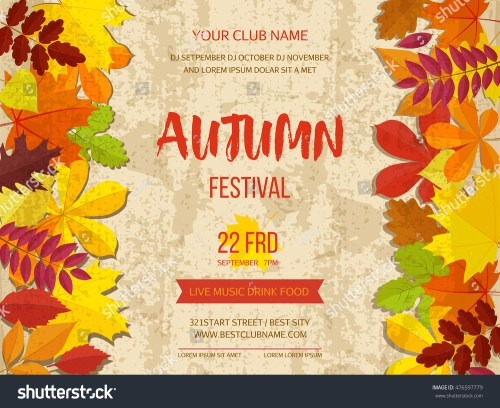 small resolution of free fall festival flyer templates polarview net thanksgiving autumn background border