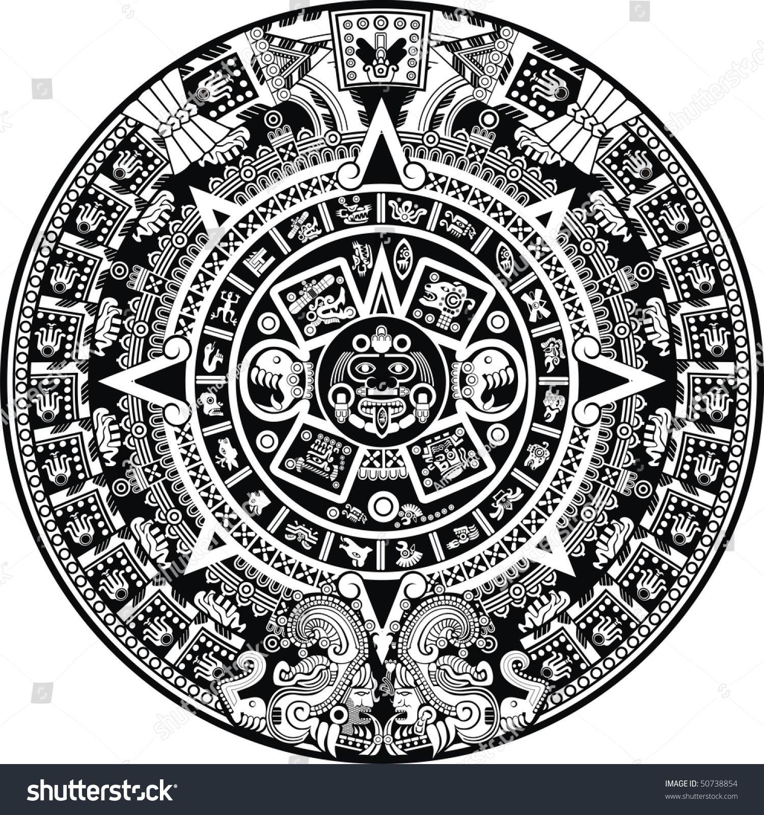 Aztec Calendar Stock Vector