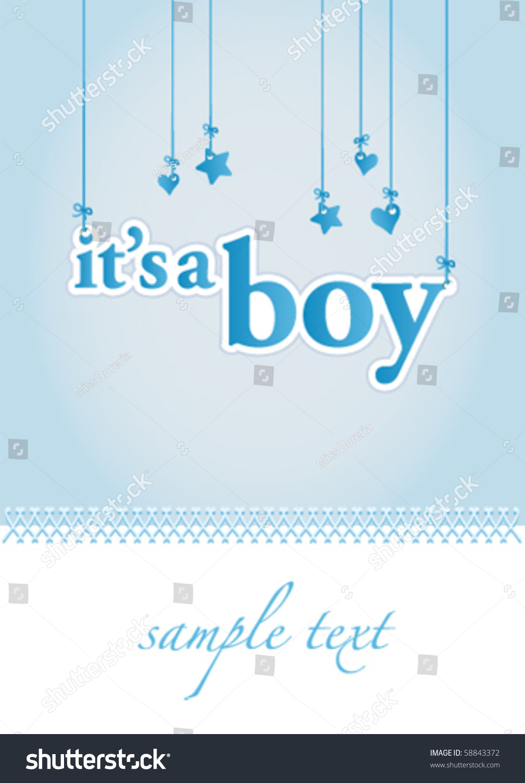 baby boy announcement templates