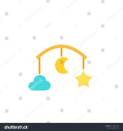 baby crib mobile icon clipart image isolated on white background [ 1500 x 1600 Pixel ]