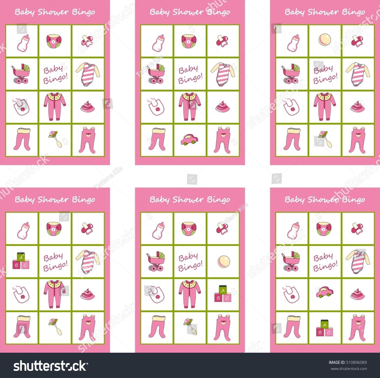 Baby Shower Game Baby Bingo Stock Vector