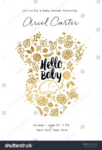 Baby Shower Invite Design Stock Vector 359006198 ...