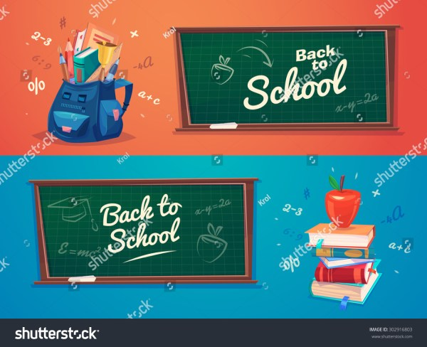 School. School Bag With Education Objects. Vector