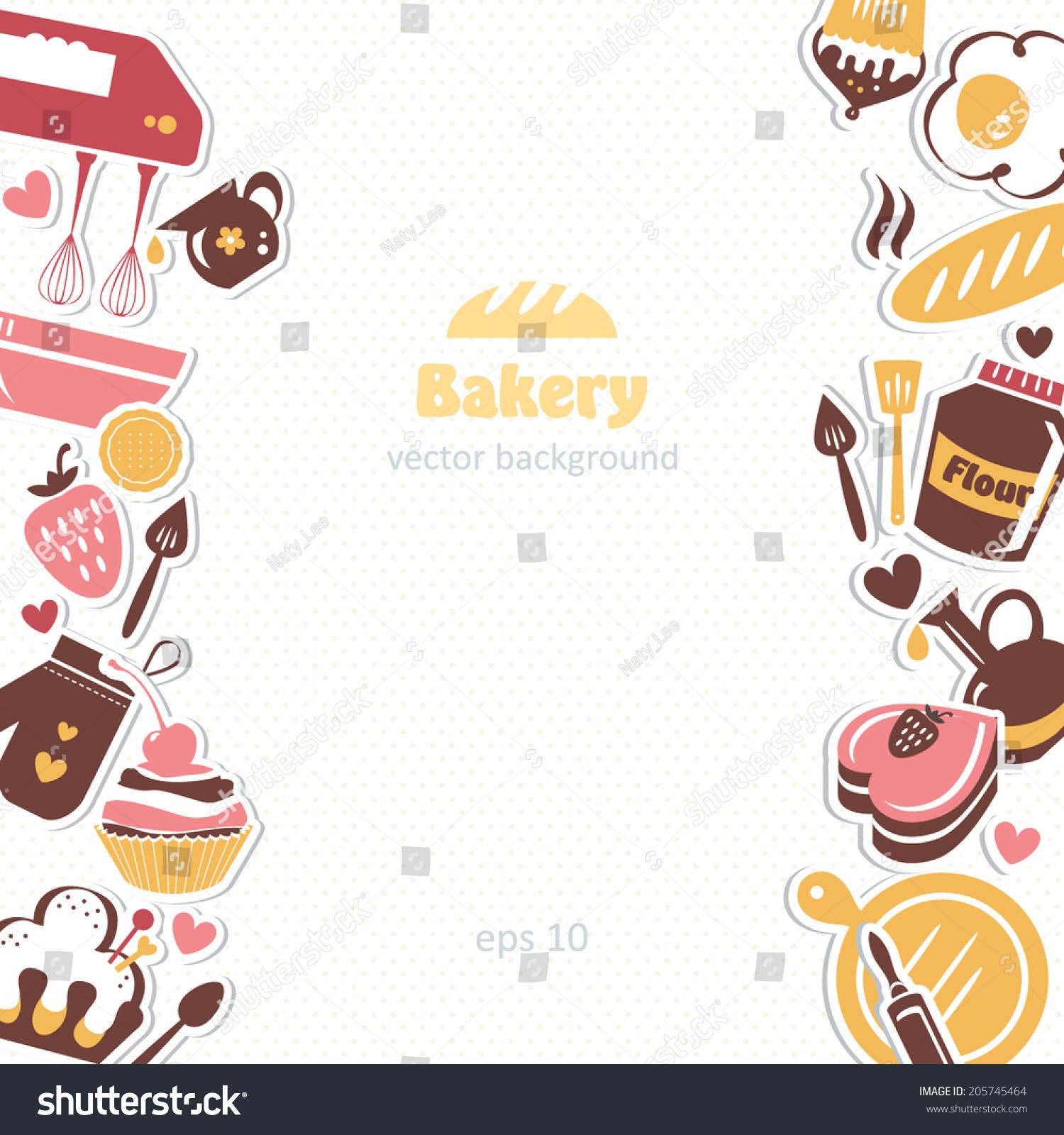 Bakery Background Stock Vector 205745464 Shutterstock