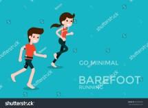 Barefoot Running Stock Vector 329990330 - Shutterstock