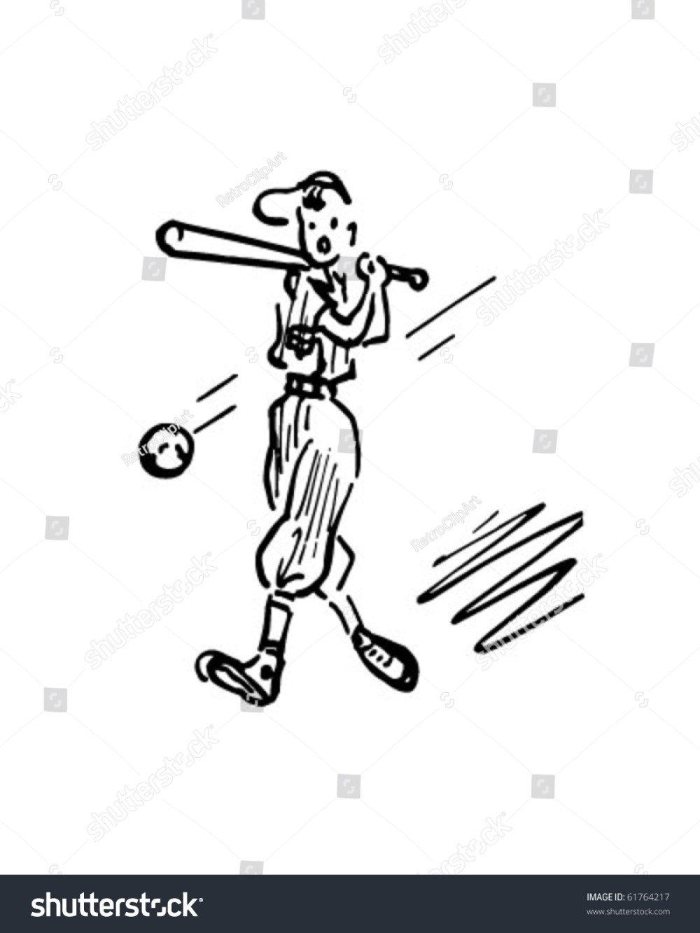 medium resolution of baseball batter retro clip art