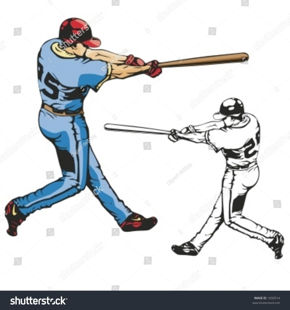 medium resolution of baseball batter vector illustration