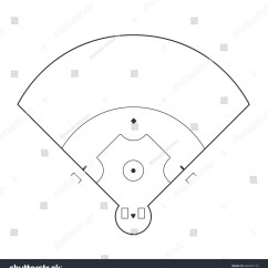 Regulation Baseball Field Diagram Three Way Wiring With Dimmer Markup Isolated On White Stock Vector
