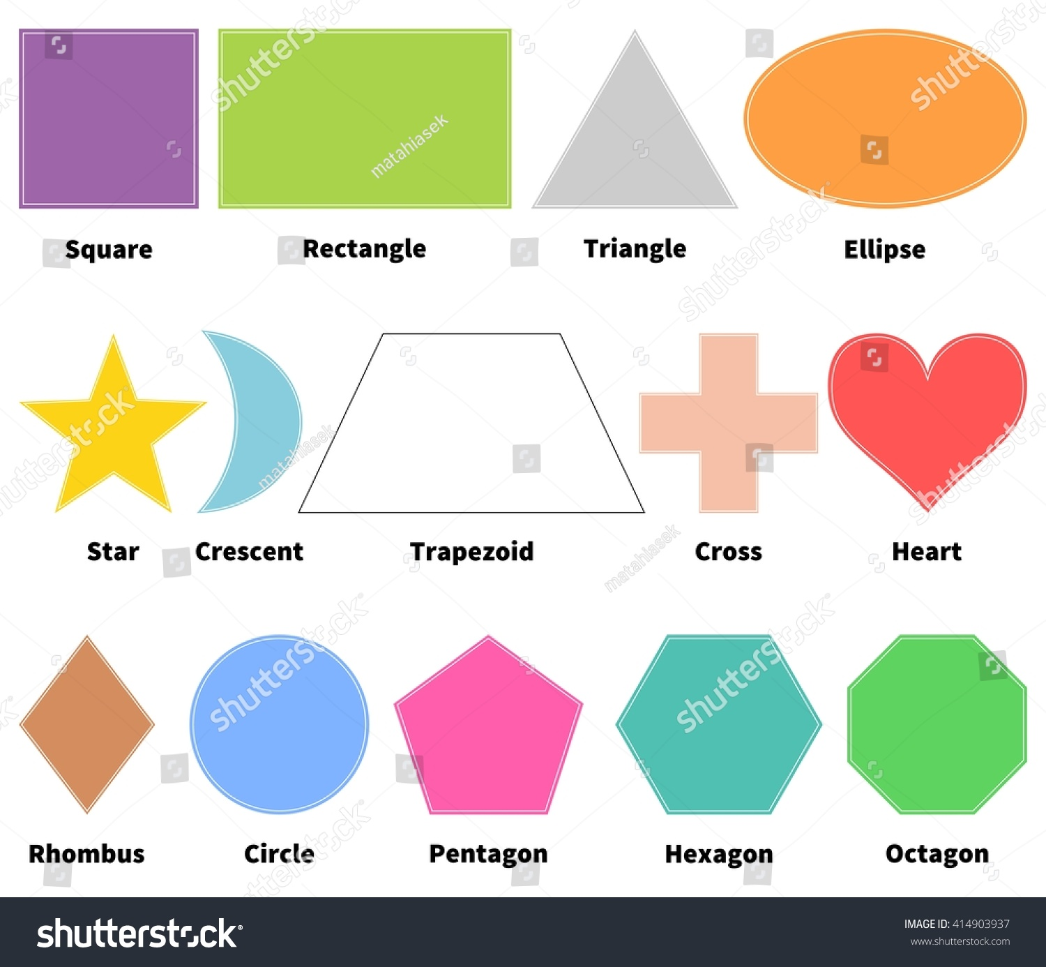 hight resolution of basic shapes for kids learn 2d shapes isolated on white background design elements
