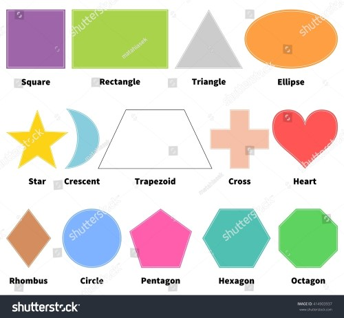 small resolution of basic shapes for kids learn 2d shapes isolated on white background design elements
