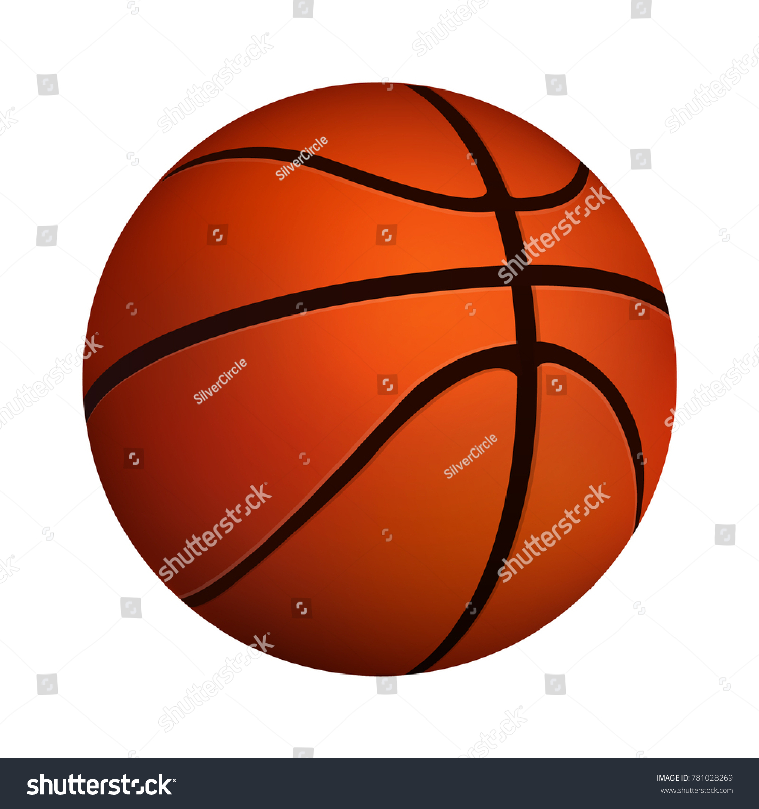 Basketball Ball Icon Isolated On White Background. Vector Image Eps 10 For Flyer  Design Element