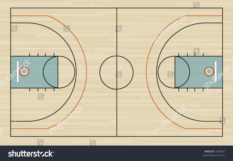 ncaa basketball court diagram polyethylene phase stock vector 1620051 shutterstock