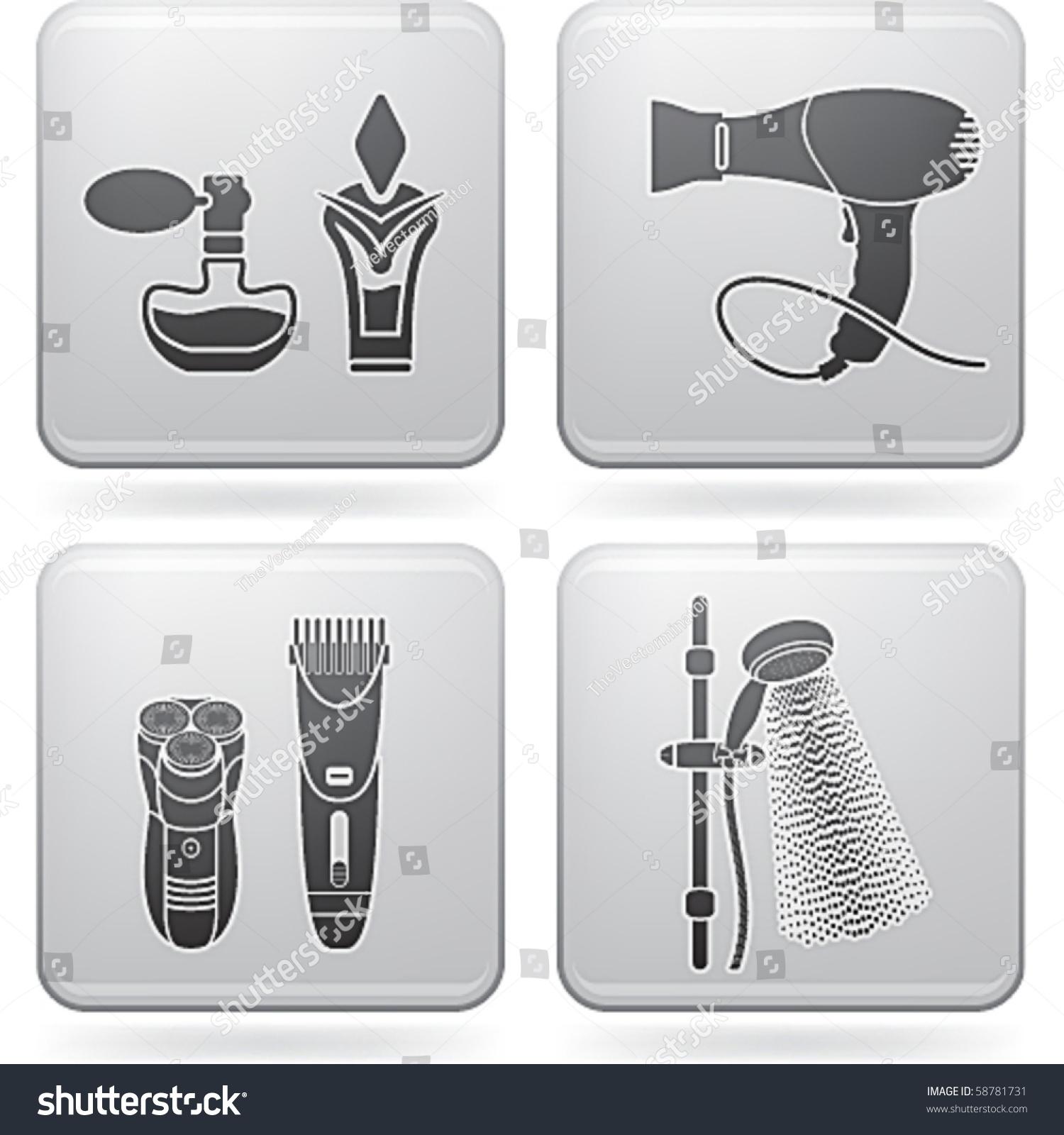 Bathroom Utensils Stock Vector Illustration 58781731