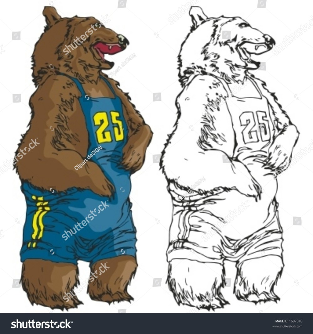 medium resolution of bear mascot for sport teams great for t shirt designs school mascot logo