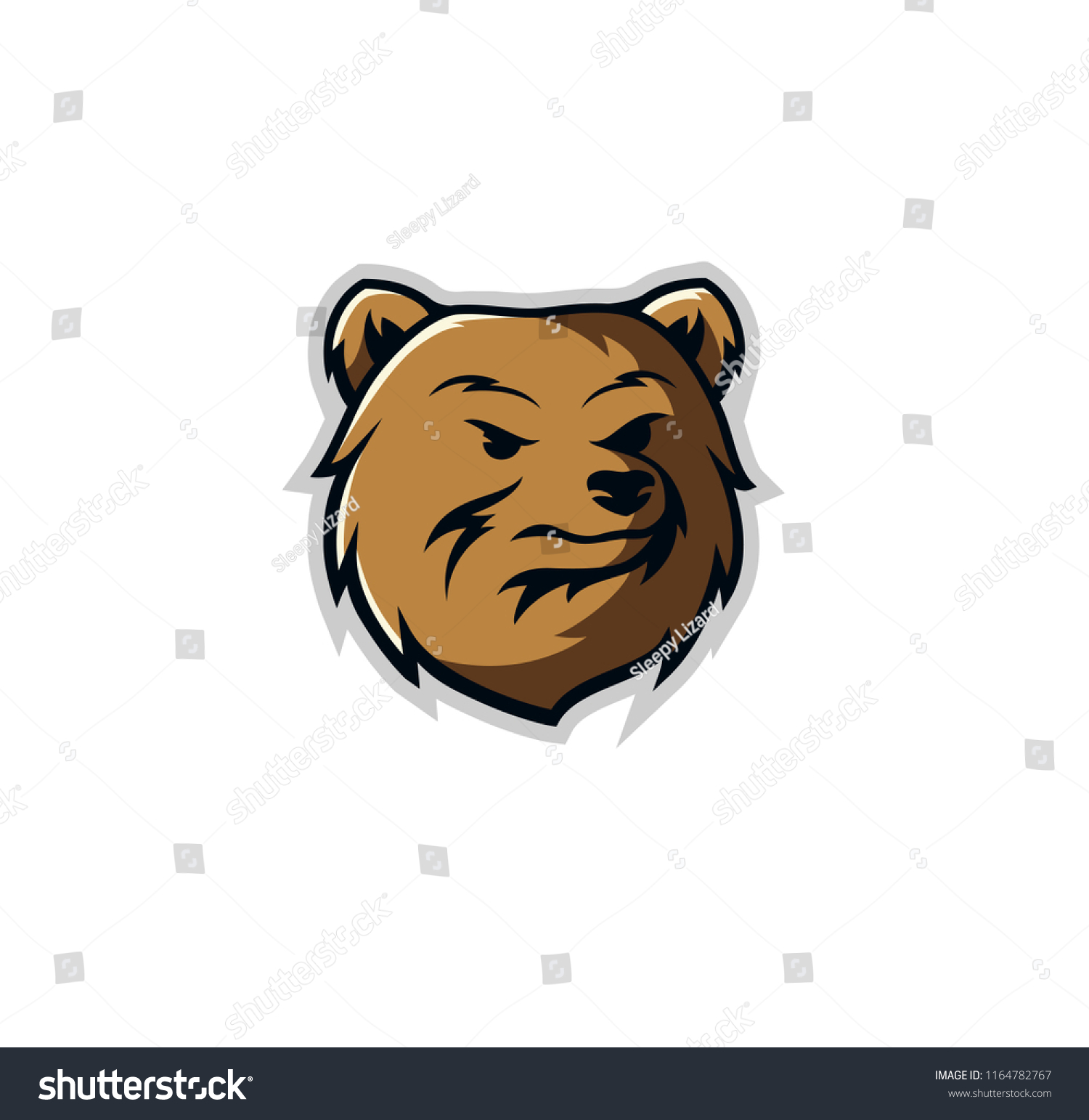 hight resolution of bear mascot logo design vector