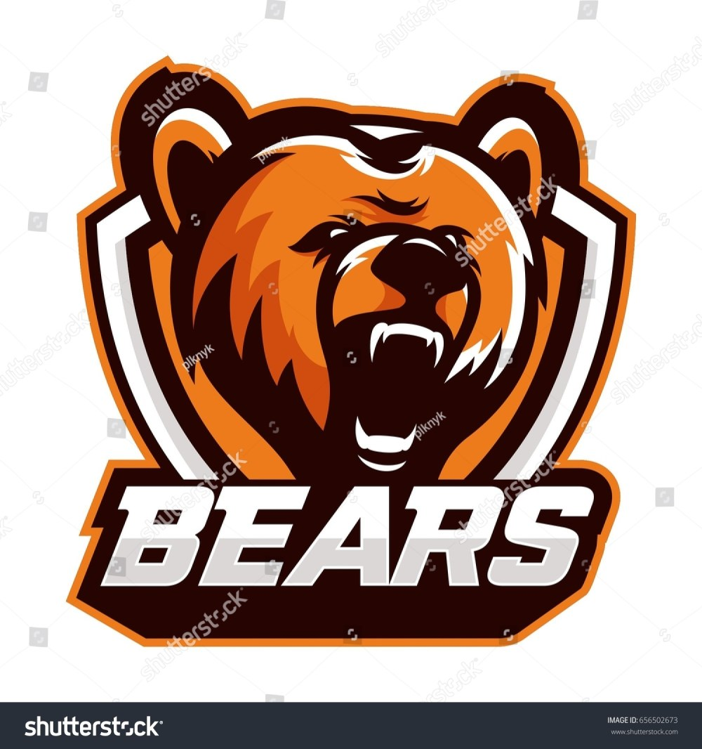 medium resolution of colorful logo emblem growling bear grizzly evil predator ready to attack sports style vector illustration printing on t shirts ez canvas