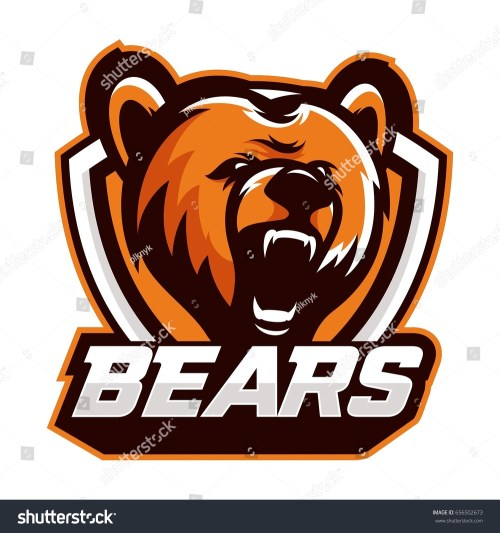 small resolution of colorful logo emblem growling bear grizzly evil predator ready to attack sports style vector illustration printing on t shirts ez canvas
