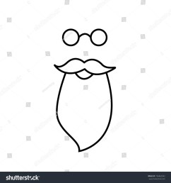 beard mustache and spectacles vector santa claus clipart [ 1500 x 1600 Pixel ]
