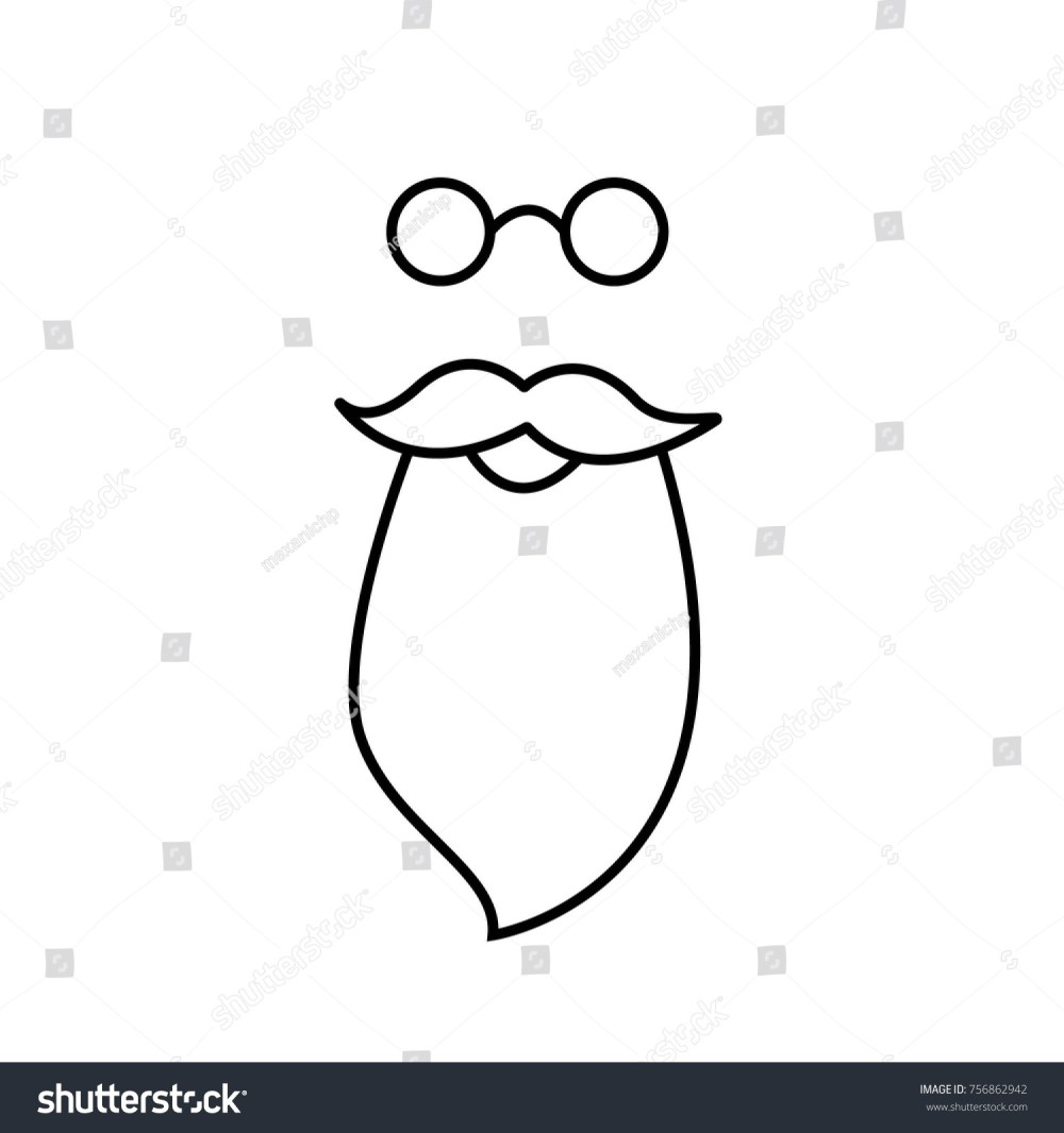 medium resolution of beard mustache and spectacles vector santa claus clipart