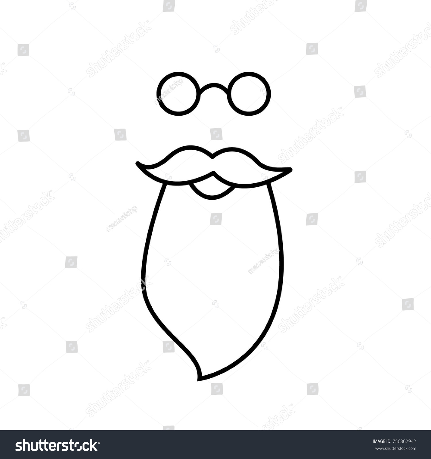 hight resolution of beard mustache and spectacles vector santa claus clipart