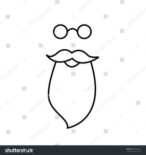 small resolution of beard mustache and spectacles vector santa claus clipart