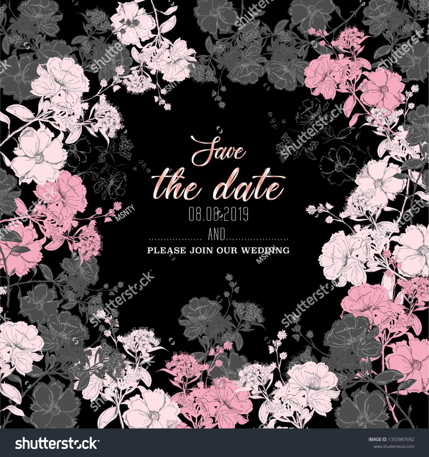 https www shutterstock com image vector beautiful botanical wedding invitation card design 1353987692