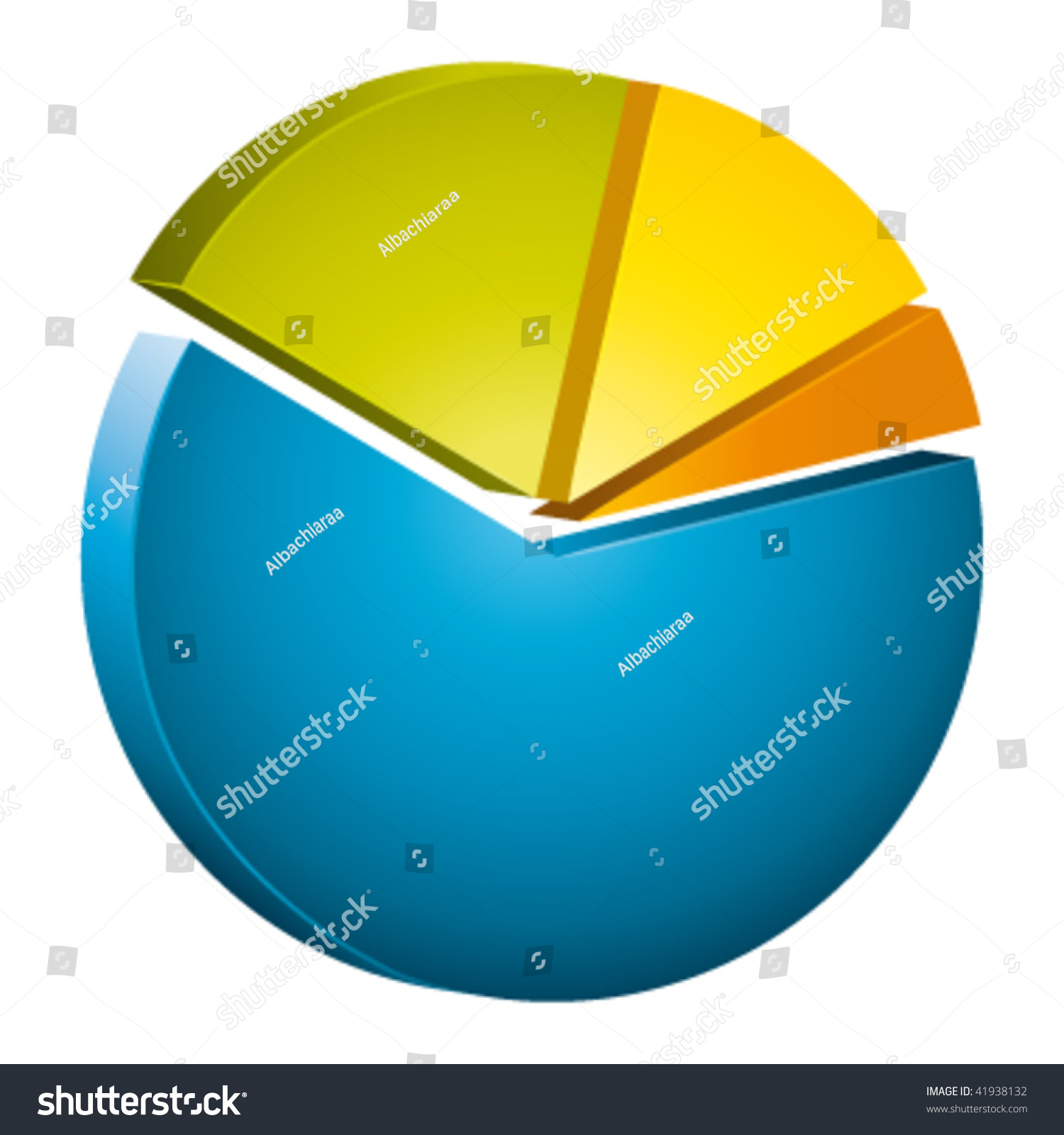 hight resolution of beautiful 3d circular diagram vector icon