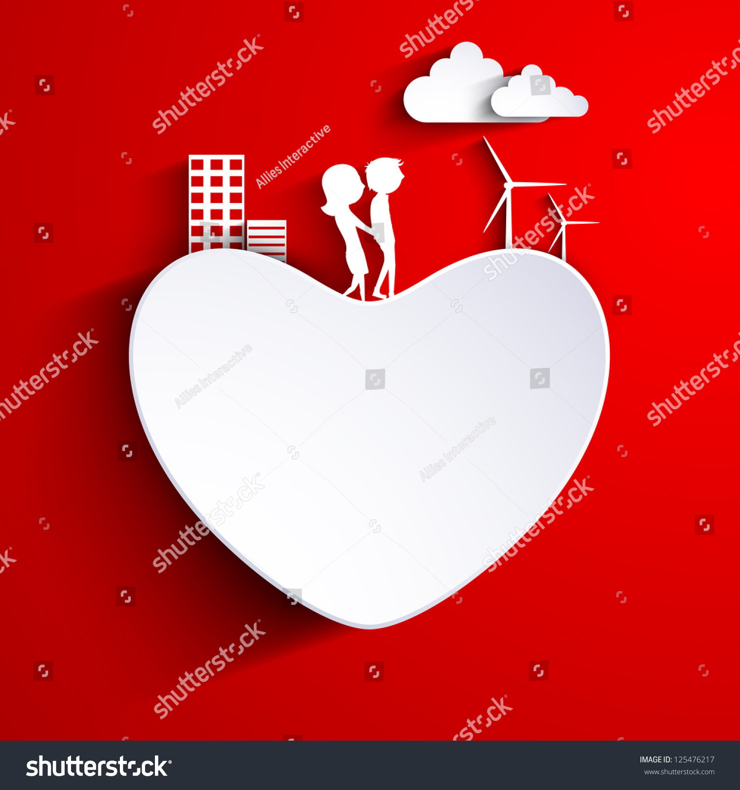 Beautiful St Valentines Day Background Gift Stock Vector